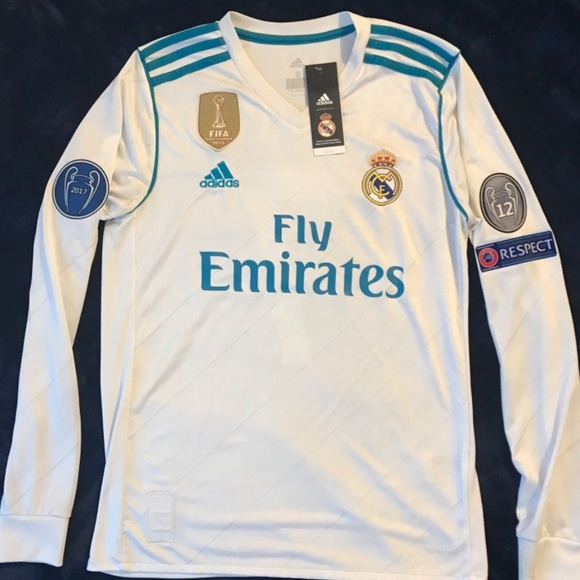 new products c5ff6 e609c Real Madrid Cristiano Ronaldo Long Sleeve 2017/18 NWT